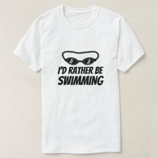Camisetas engraçadas para o nadador - eu