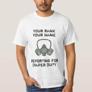Camisetas engraçadas sujas personalizadas do dever