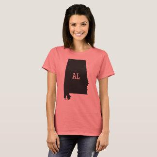 Camisetas femininas da abreviatura do AL do mapa