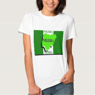 Camisetas femininas da bandeira de Nigéria
