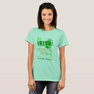Camisetas femininas irlandesas da equipe do