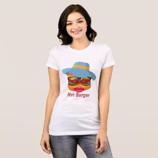 Camisetas femininas quentes do hamburguer