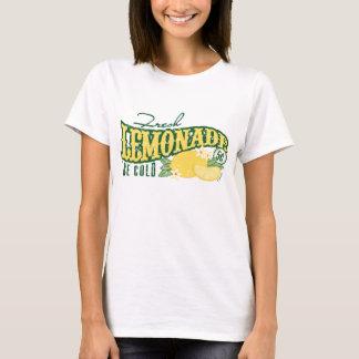 Camisetas frescas do sinal da limonada