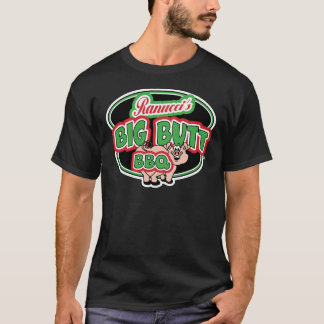 Camisetas grandes do preto do CHURRASCO do bumbum