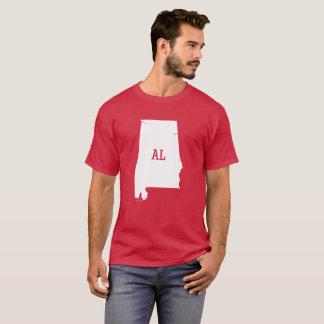 Camisetas masculinas brancas do AL do mapa do