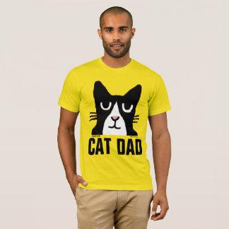 Camisetas masculinas do gatinho da panda do