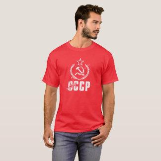 Camisetas masculinas usadas foice do vermelho da