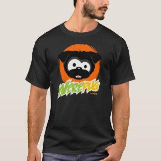 Camisetas pretas da obscuridade de WerePug