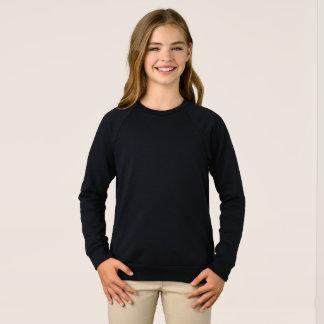 Camisola americana do Raglan do roupa das meninas Agasalho