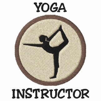 Camisola bordada instrutor da ioga