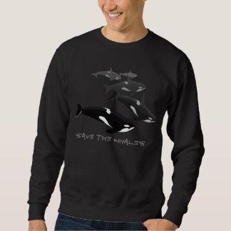 Camisola da arte da baleia de assassino da camisa