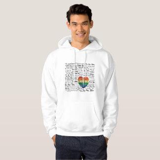 Camisola da capa do hoodie dos homens das línguas moletom