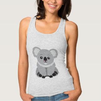 Camisola de alças animado bonito do urso de Koala Regata