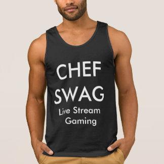 Camisola de alças básica dos ganhos do cozinheiro