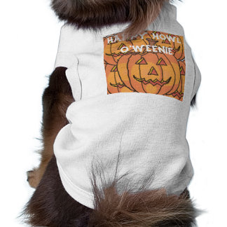 Camisola de alças com nervuras do cachorrinho do D Camisa Sem Mangas Para Cachorro