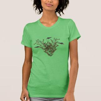 Camisola de alças da borboleta t-shirt