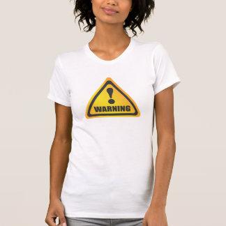 Camisola de alças da etiqueta de advertência tshirts