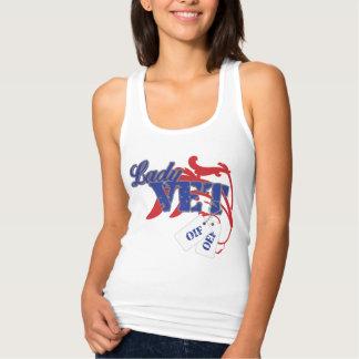 Camisola de alças da senhora Veterinário Camiseta