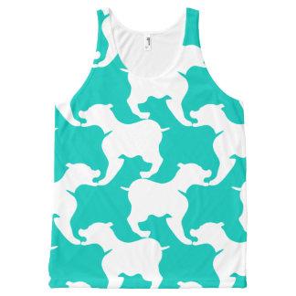 Camisola de alças dos cães de Houndstooth do Regata Com Estampa Completa