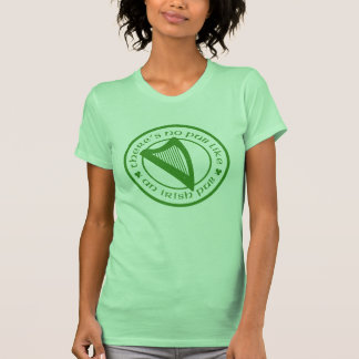 Camisola de alças irlandesa do limão da harpa do t-shirts