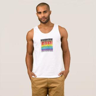 Camisola de alças nova do logotipo do arco-íris de