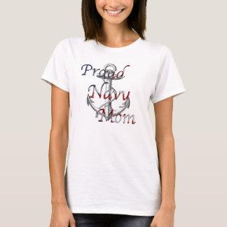 Camisola de alças orgulhosa da mamã do marinho camiseta