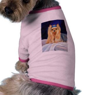 Camisola do cão do yorkshire terrier camisa ringer para cachorro