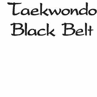 Camisola do cinturão negro de Taekwondo Moletom Bordado