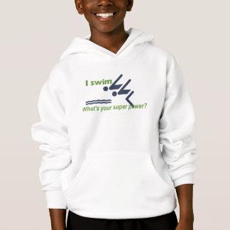Camisola do hoodie da natação da criança