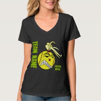 Camisola do Hoodie do softball de Fastpitch T-shirts