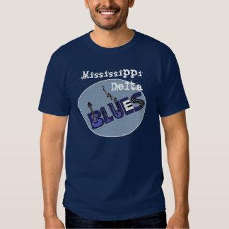 Camisola dos azuis do delta de Mississippi Tshirts