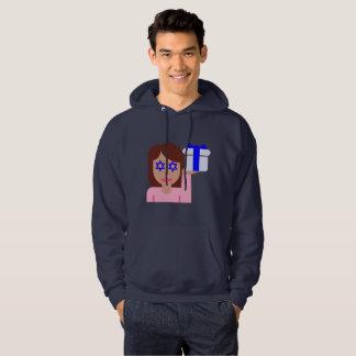 camisola encapuçado dos homens do emoji do sacudir moletom