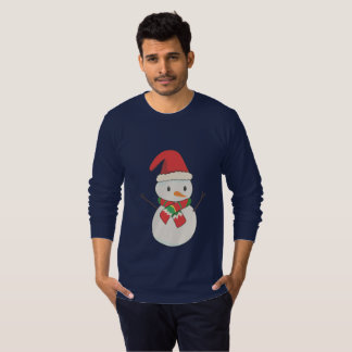 camisola feia do Natal do boneco de neve do Camiseta
