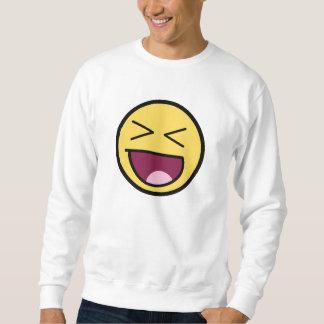 Camisola impressionante feliz da cara moleton