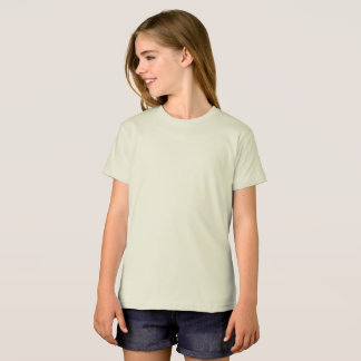 Camisola orgânica do roupa americano das meninas camiseta