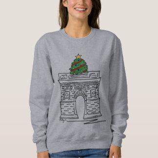 Camisola quadrada de Washington da árvore de Natal Moletom