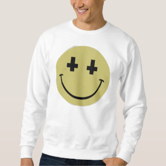 Camisola transversal invertida do smiley moletom