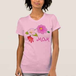Camisolas de alças havaianas das flores bonito par t-shirt