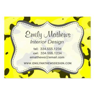 Camo amarelo elétrico; Camuflagem Modelos Cartões De Visita