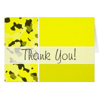 Camo amarelo elétrico; Personalizado Cartão