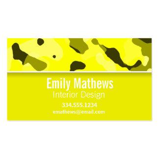 Camo amarelo elétrico; Personalizado Cartão De Visita