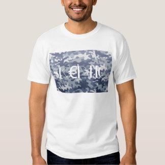Camo céptico camiseta