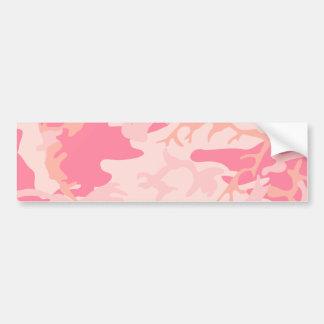 Camo cor-de-rosa - Camo feminino Adesivo