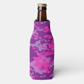 Camo cor-de-rosa e roxo porta-garrafa