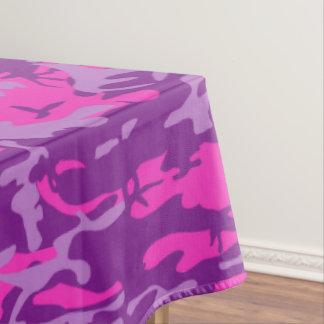 Camo cor-de-rosa e roxo toalha de mesa