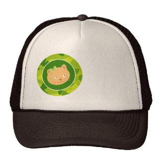 Camo verde-maçã; Gatinho Boné
