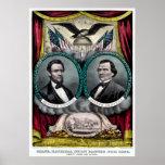 Campanha presidencial 1864 de Abraham Lincoln Poster