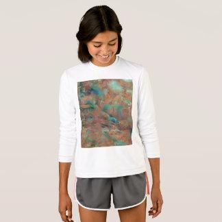 Campanha publicitária urbana de cobre queimada camiseta