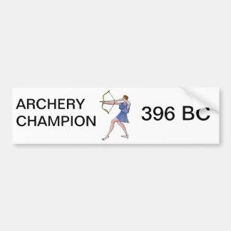Campeão 396 do tiro ao arco BC Adesivo Para Carro