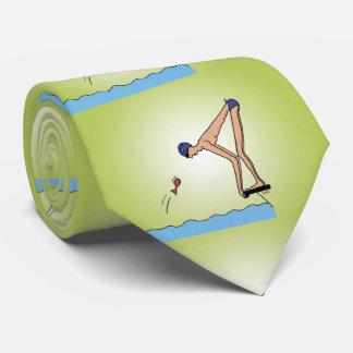 Campeão bonito da natação gravata